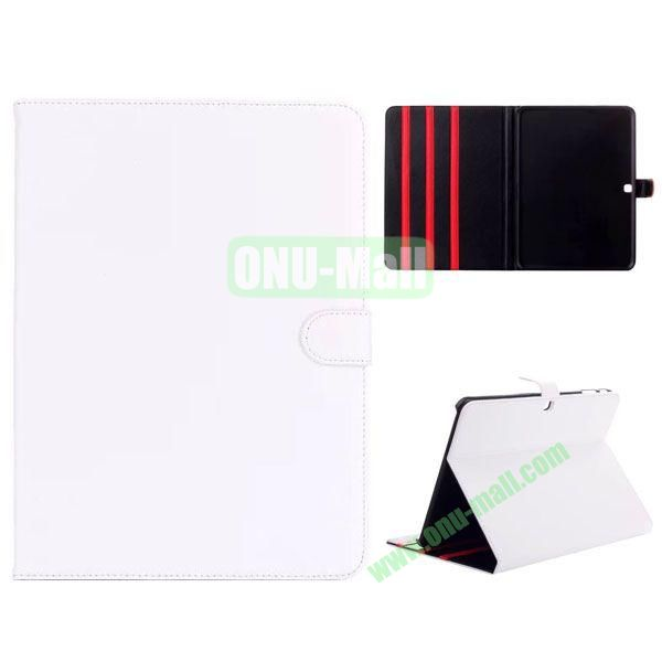 Simple Designs Flip Stand PC + Leather Case for Samsung Galaxy Tab 4 10.1  T530 with 3 Gears Holder (White)