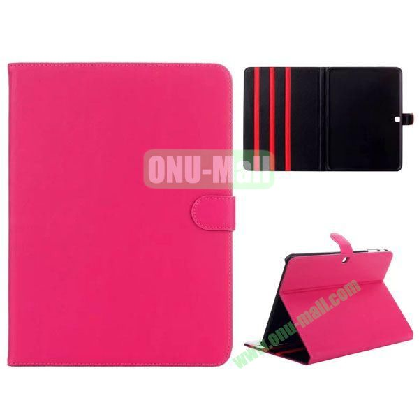Simple Designs Flip Stand PC + Leather Case for Samsung Galaxy Tab 4 10.1  T530 with 3 Gears Holder (Rose)