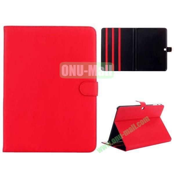 Simple Designs Flip Stand PC + Leather Case for Samsung Galaxy Tab 4 10.1  T530 with 3 Gears Holder (Red)