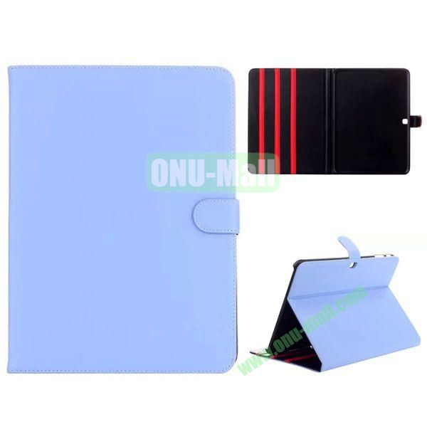 Simple Designs Flip Stand PC + Leather Case for Samsung Galaxy Tab 4 10.1  T530 with 3 Gears Holder (Light Blue)