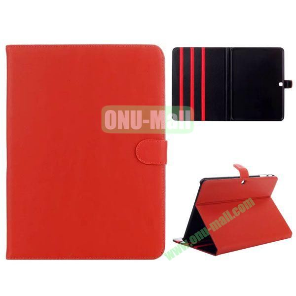 Simple Designs Flip Stand PC + Leather Case for Samsung Galaxy Tab 4 10.1  T530 with 3 Gears Holder (Orange)