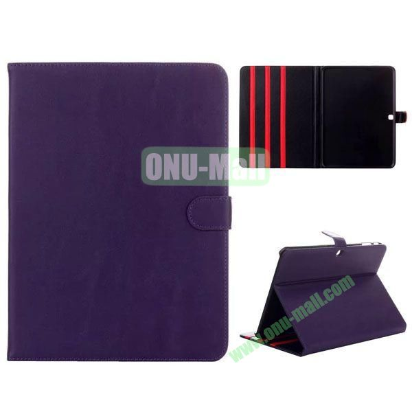 Simple Designs Flip Stand PC + Leather Case for Samsung Galaxy Tab 4 10.1  T530 with 3 Gears Holder (Purple)