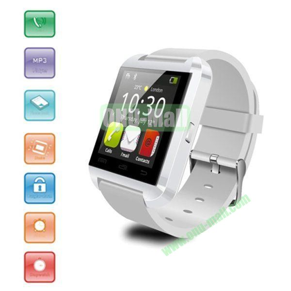 Android Bluetooth Touch Screen Smart Watch, Phonebook Watch Wristwatch Smartphone with Remote Taking Photo Function (White)