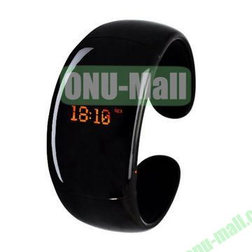 Multifunction Bluetooth Bracelet Smart Watch with Caller ID Display+Answer Call with Vibration+Anti-Theft+Mic+Music Player (Black)