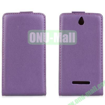 Vertical Flip Leather Case for Sony Xperia E Dual  C1605 (Purple)