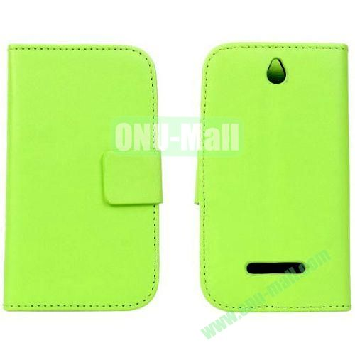 PU Material Leather Case for Sony Xperia E Dual  C1605 with Crad Slots and Holder (Green)