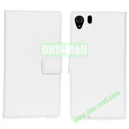 Crazy Horse Texture Leather Case with Card Slots and Holder for Sony Xperia Z1L39h (White)