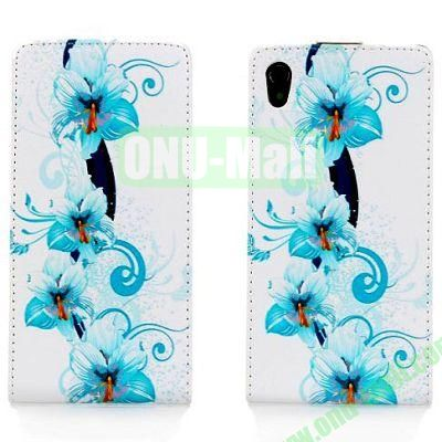Orchid Pattern Leather Case for Sony Xperia Z1L39h