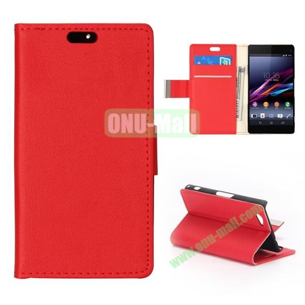 Crazy Horse Texture Flip Leather Case for Sony Xperia A2 (Red)