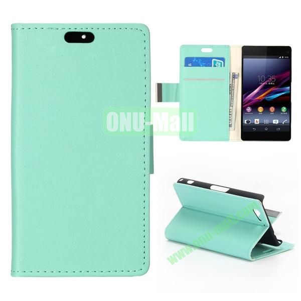 Crazy Horse Texture Flip Leather Case for Sony Xperia A2 (Green)