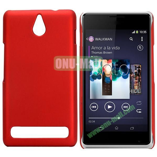 Solid Color Hard Plastic Case for Sony Xperia E1 (Red)