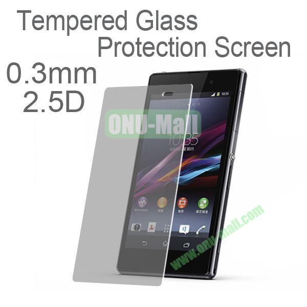 0.3mm 2.5D Tempered Glass Protector Screen Protector for Sony L39h Xperia Z1