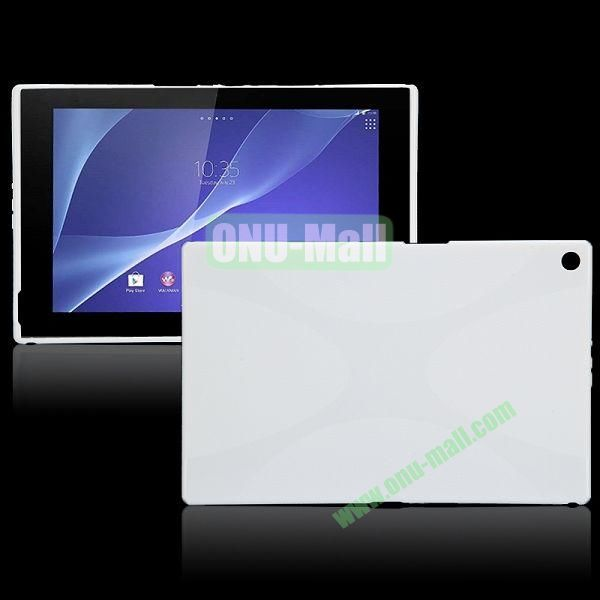 X Shape TPU Case for Sony Xperia Z2 Tablet (White)