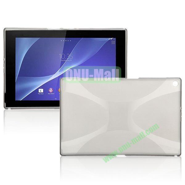 X Shape TPU Case for Sony Xperia Z2 Tablet (Grey)