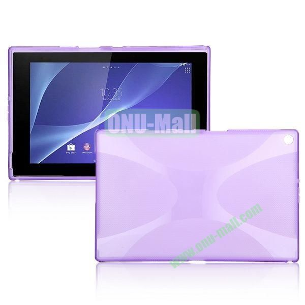 X Shape TPU Case for Sony Xperia Z2 Tablet (Purple)