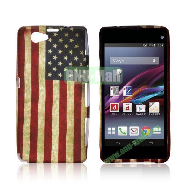 USA Flag Pattern TPU Case for Sony Xperia Z1 Mini