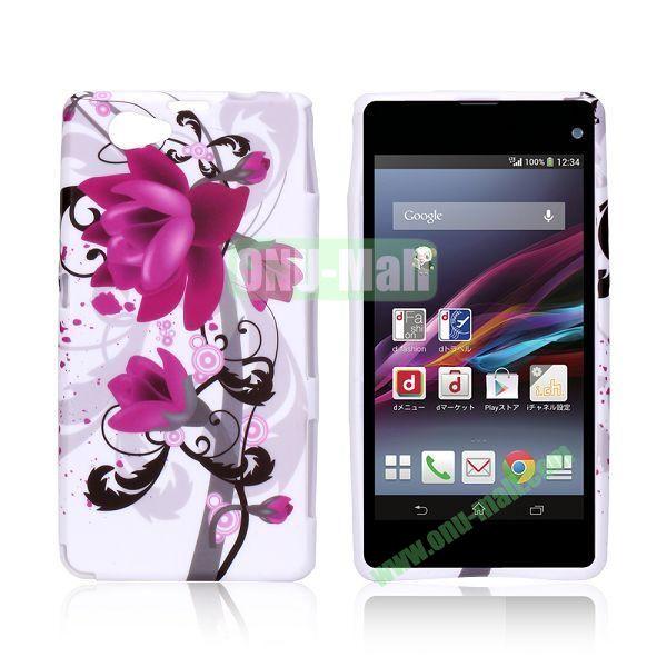 Blossom Lily Pattern TPU Case for Sony Xperia Z1 Mini