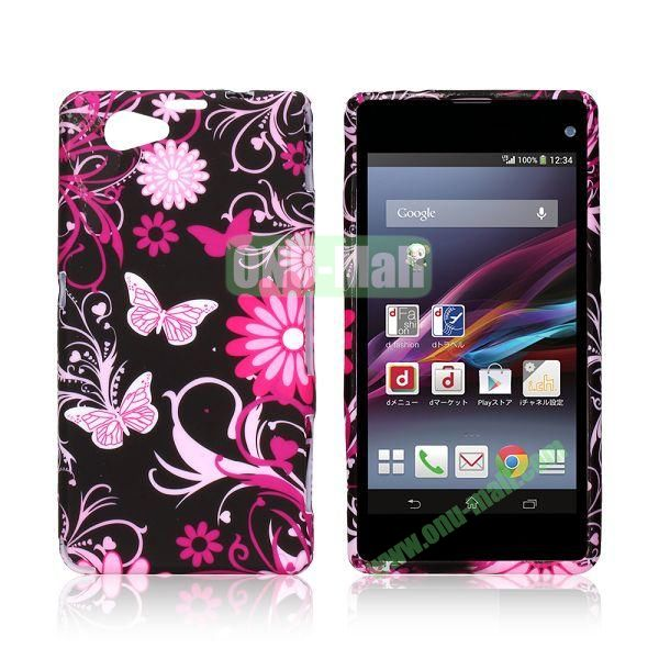 Butterfly and Flowers Pattern TPU Case for Sony Xperia Z1 Mini