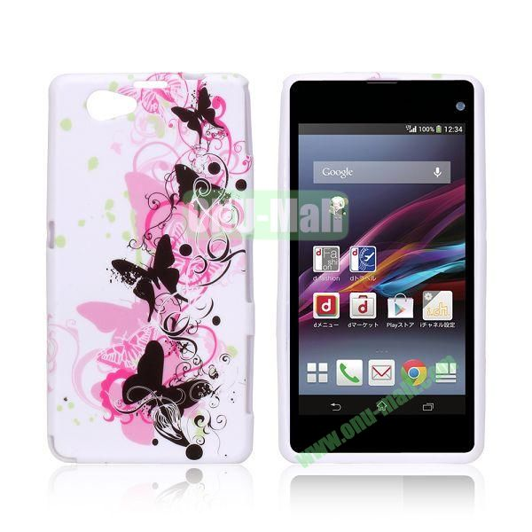 Butterfly Pattern TPU Case for Sony Xperia Z1 Mini