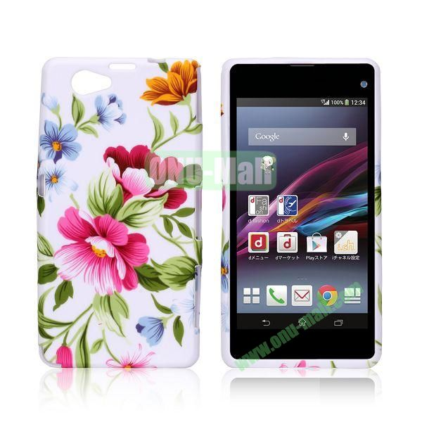 Pretty Flowers Pattern TPU Case for Sony Xperia Z1 Mini