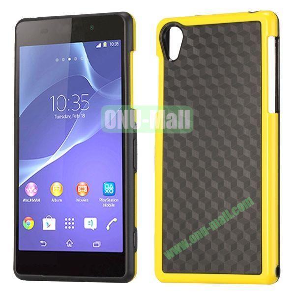 Fashion Diamond Pattern TPU Case for Sony Xperia Z2  L50W  D6502  D6503 (Yellow+Black)