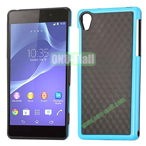 Fashion Diamond Pattern TPU Case for Sony Xperia Z2  L50W  D6502  D6503 (Blue+Black)