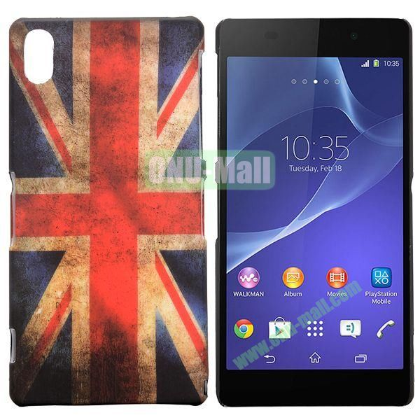 UK Flag Pattern Coated Oil Hard Case for Sony Xperia Z2  L50W  D6502  D6503