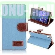 Cloth Texture Wallet Style Leather Case for Sony Xperia Z2L50W D6502 D6503 (Light blue)