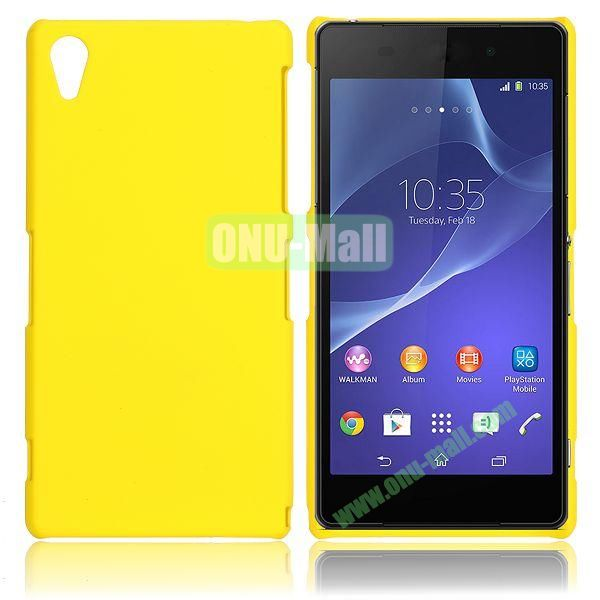 Solid Color Hard Case for Sony Xperia Z2  L50W  D6502  D6503 (Yellow)
