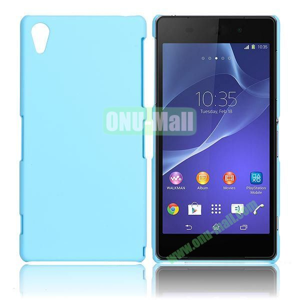 Solid Color Hard Case for Sony Xperia Z2  L50W  D6502  D6503 (Light Blue)