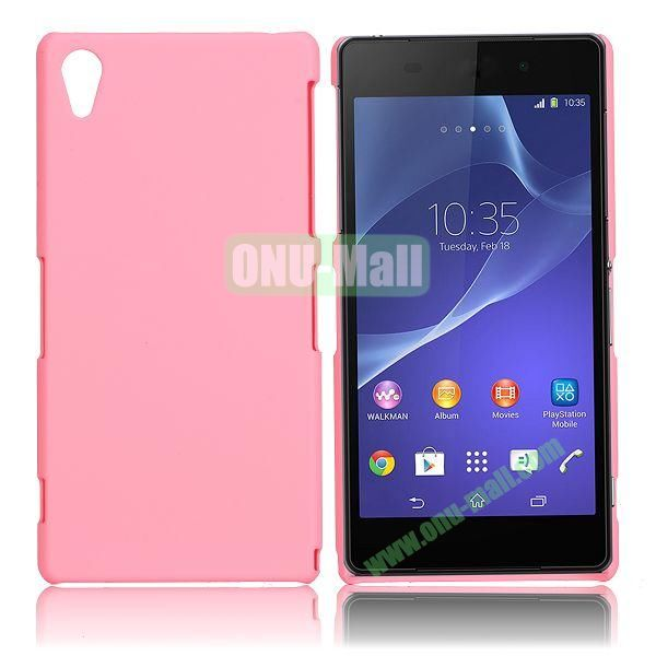 Solid Color Hard Case for Sony Xperia Z2  L50W  D6502  D6503 (Pink)
