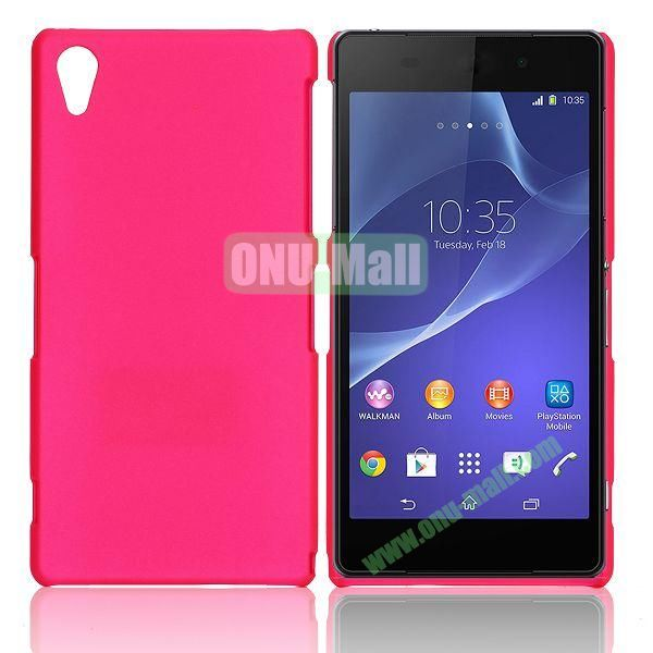 Solid Color Hard Case for Sony Xperia Z2  L50W  D6502  D6503 (Rose)