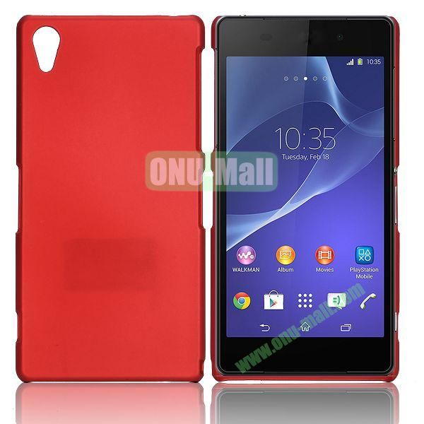 Solid Color Hard Case for Sony Xperia Z2  L50W  D6502  D6503 (Red)