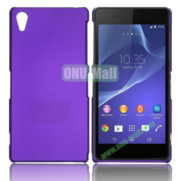 Solid Color Hard Case for Sony Xperia Z2  L50W  D6502  D6503 (Purple)