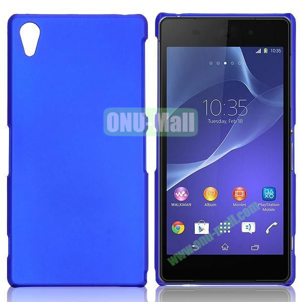 Solid Color Hard Case for Sony Xperia Z2  L50W  D6502  D6503 (Dark Blue)