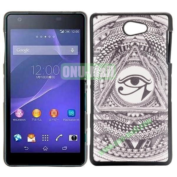 Eye of Horus Pattern Cross Texture Leather Coated Design TPU Case for Sony Xperia Z2a D6563
