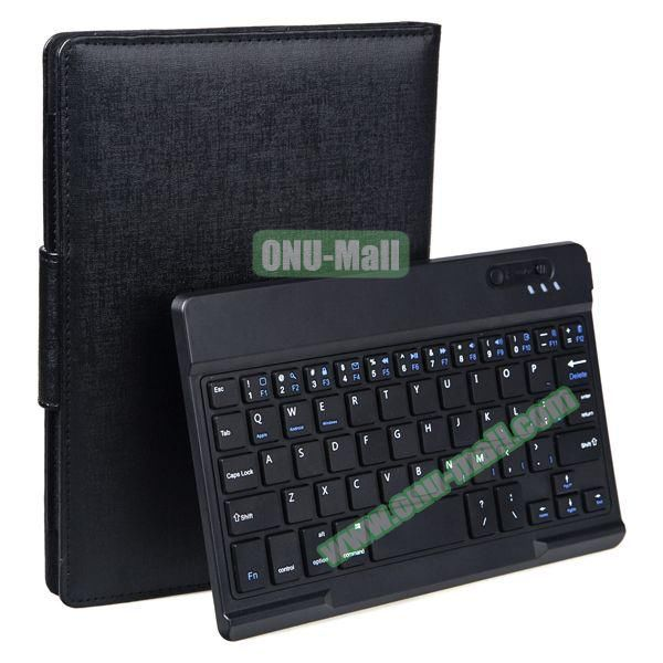 Oracle Texture Detachable Bluetooth Keyboard Leather Case For Sony Xperia Z3 Tablet (Black)