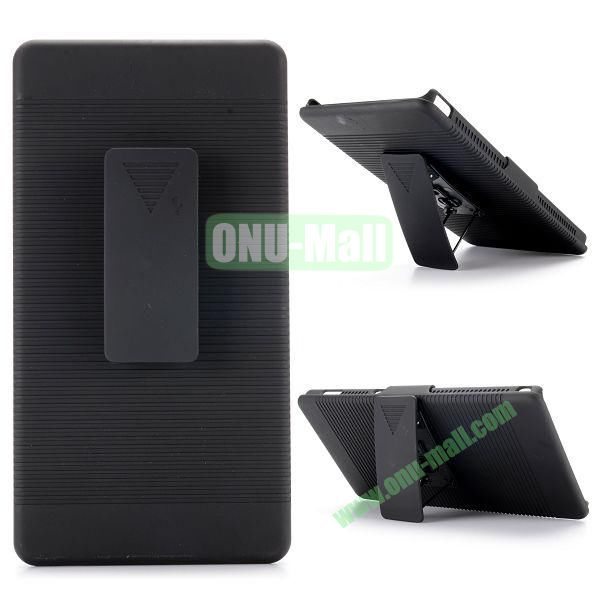 2 in 1 Belt Clip Detachable Holster Combo PC Hard Case for Sony Xperia T2 Ultra with Kickstand
