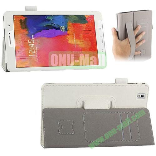 High-quality Leather Case for Samsung Galaxy TabPro 8.4 with Card Slots and Holder & Armband (White)