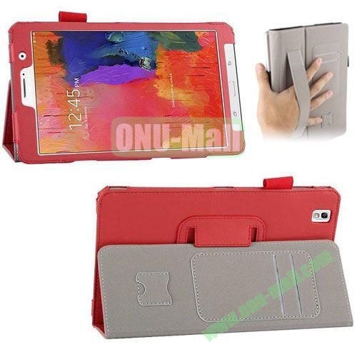 High-quality Leather Case for Samsung Galaxy TabPro 8.4 with Card Slots and Holder & Armband (Red)