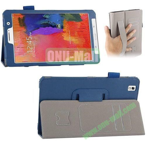 High-quality Leather Case for Samsung Galaxy TabPro 8.4 with Card Slots and Holder & Armband (Blue)