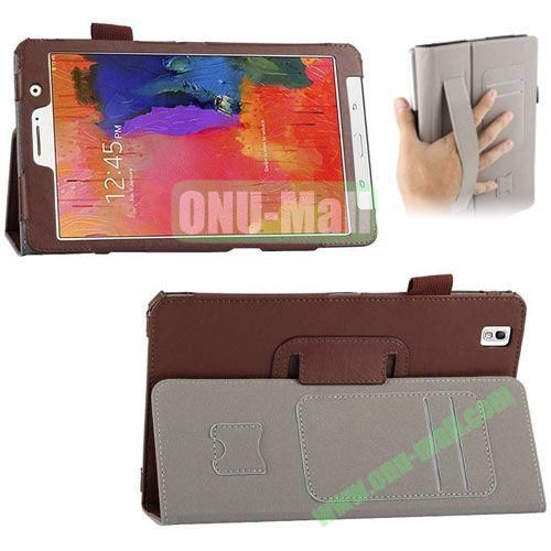 High-quality Leather Case for Samsung Galaxy TabPro 8.4 with Card Slots and Holder & Armband (Brown)