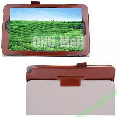 High-quality Leather Case with Holder for Samsung Galaxy TabPro 8.4 (Brown)