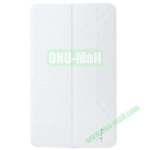 USAMS Star Series Leather Smart Cover for Samsung Galaxy Tab Pro 8.4 with Holder (White)