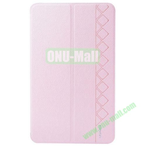 USAMS Star Series Leather Smart Cover for Samsung Galaxy Tab Pro 8.4 with Holder (Pink)