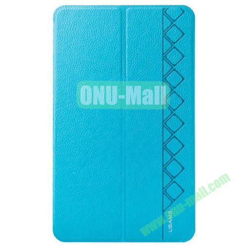 USAMS Star Series Leather Smart Cover for Samsung Galaxy Tab Pro 8.4 with Holder (Blue)