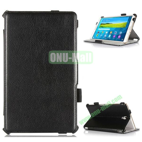 Hot Sale Flip Stand Leather Case for Samsung Galaxy Tab S 8.4 T700 with Armband Belt (Black)