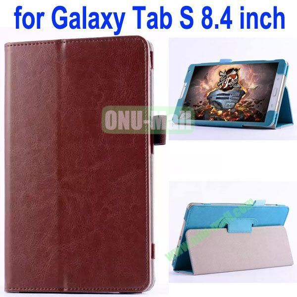 Crazy Horse Texture Flip Stand Leather Case for Samsung Galaxy Tab S 8.4 T700 (Brown)