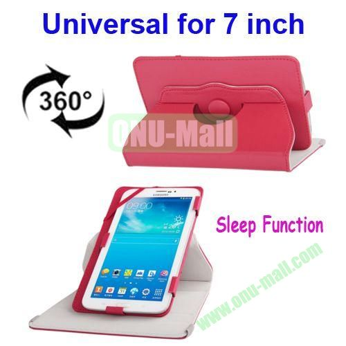 360 Degree Rotatable Universal Leather Case for 7.0 inch Tablet PC with Sleep Function (Red)
