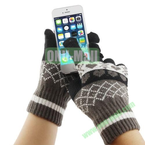 Heart Pattern Three Finger Touch Screen Touch Gloves for iPhone 5 & 5S & 5C, iPhone 4 & 4S,iPad,iPod Touch, etc (Black)